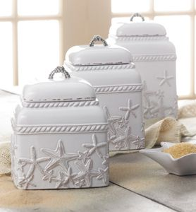 Starfish Ceramic Canister Set @ by the sea beach decor
