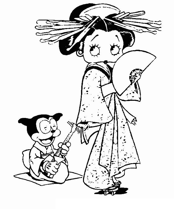 22 best betty boop coloring pins only images on Pinterest | Betty ...