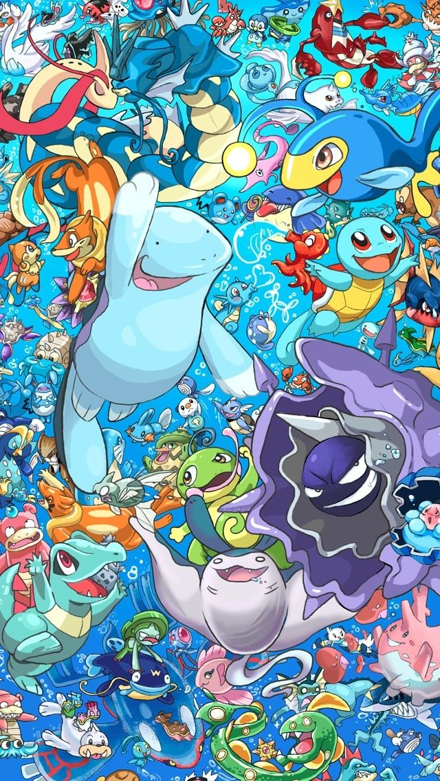 Water type pokemon pokemon iphone wallpapers mobile9 for All types of water