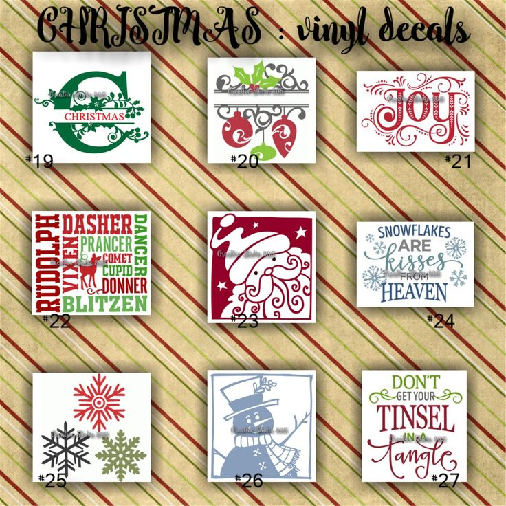 CHRISTMAS vinyl decals | christmas decoration | decal | sticker | decal for…