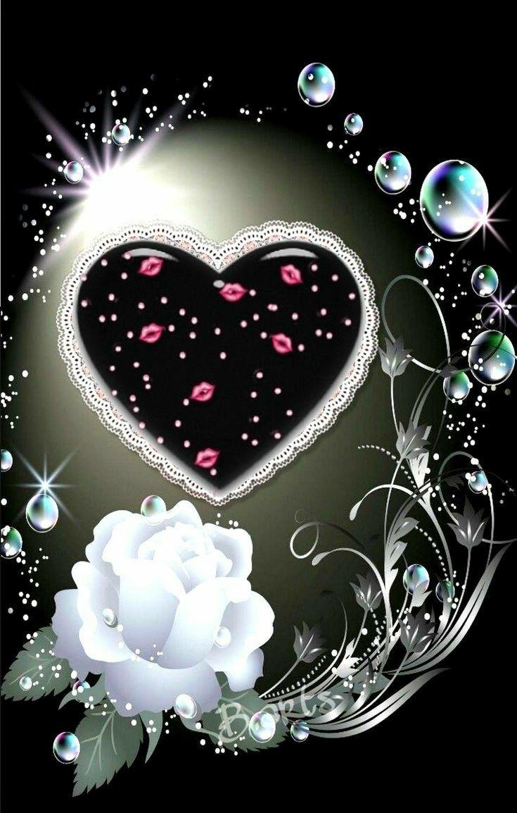 Картинки спокойной ночи сердечки с поцелуями