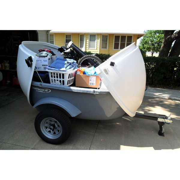 This small cargo trailer from Let's Go Aero boasts more interior storage space than most SUVs, but has small outer dimensions and weighs only 275 lbs.