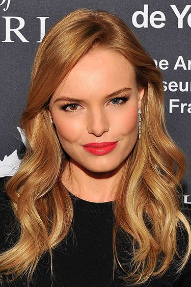 Hot Makeup Looks Fall 2013: Kate Bosworth: Skipping laborious lining & filling, makeup artist Andre Sarmiento applied MAC Russian Red straight from the tube, topping it with Fresh Coral Tinted Lip Treatment for a bit of brightness. As for those chiseled sculpted cheeks? Use an angled brush at a steep angle. MAC Red Lipstick, $15, maccosmetics.com  Fresh Sugar Coral Tinted Lip Treatment Sunscreen SPF 15, $22.50, fresh.com.