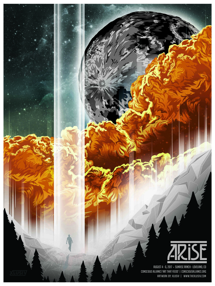 My latest collaboration with @arise and @consciousalliance  #arise #arisemusicfestival #colorado #musicfestivalposter #festivalposter #festivalart #clouds #moon #crystal #stars #energy #love #transcend #posterart #poster #graphicdesign #illustration #vector #vectorposter #consciousalliance #consciousallianceposter #xlusiv