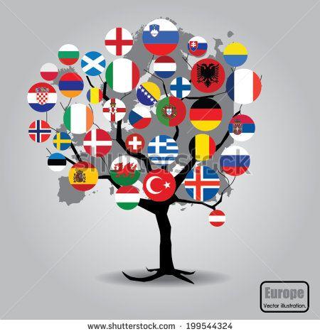 European Union country flag design. Vector illustration.