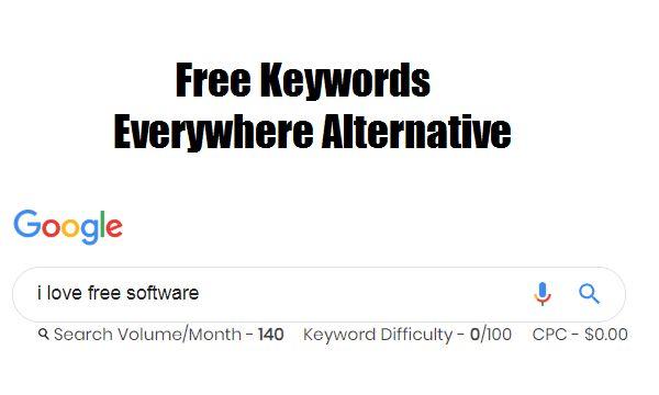 Liebe freie Software – freie Schlüsselwörter überall Alternative zu sehen, Volumen, CPC in …