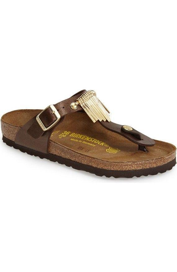 Birkenstock'Gizeh' Fringe Thong Sandal