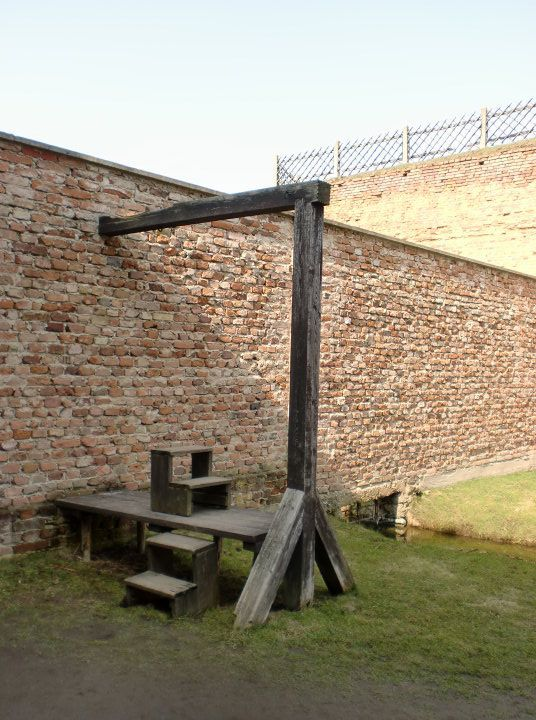 gallows inside the camp