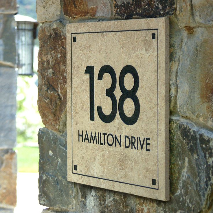 Clarus Crystal Engraved Stone Address Plaque Color