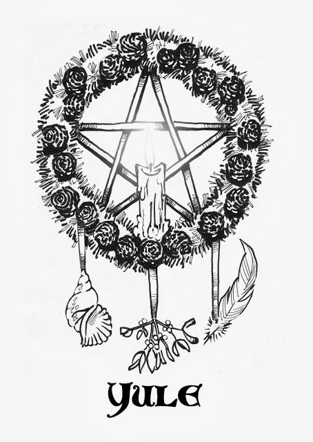 Printable Pagan Coloring Pages Yule Coloring Pages