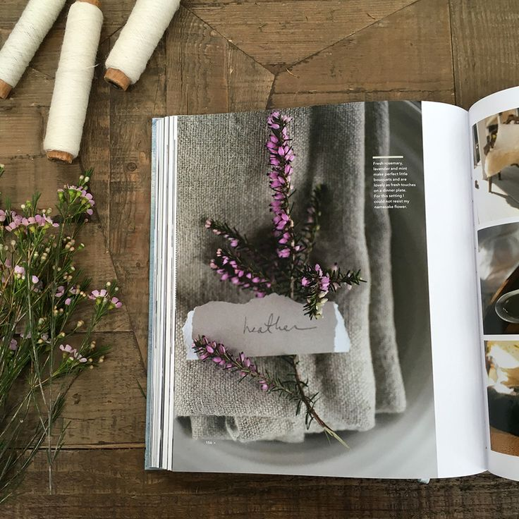Making Waves in the UK! | my namesake flower Heather as seen in my book, profiled in 91 magazine