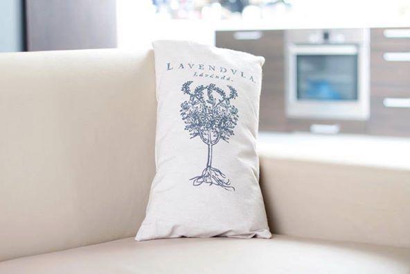 Poduszka - łuska gryki i lawenda 50x30 - Tradycyjne Mydła