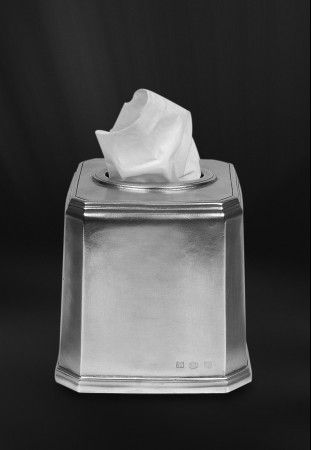 pewter tissue box  http://www.pewter-gt.com/pewter-products/pewter-bath-accessories  #italian #pewter #housewares #manufacturers #madeinitaly #bath #accessories #tissue #box
