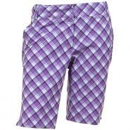 AUR Plaid Womens Golf Shorts Wisteria Plaid