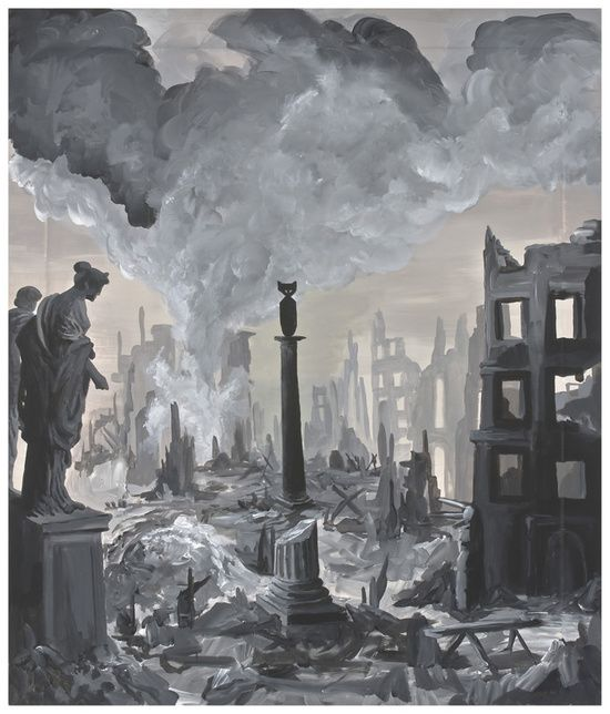 Ozbolt Monument (Dresden), 2008  Acrylic on icon board  70 x 59.5 cm / 27 1/2 x 23 3/8 in