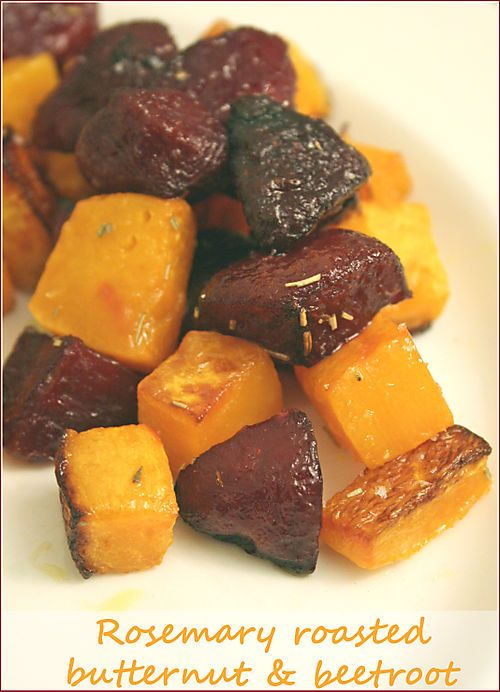 Rosemary roasted beets and butternut squash. Yum! I would like to try this!
