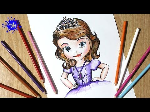 Como dibujar la princesita Sofia l how to draw the princess sofia - como dibujar una princesa YouTube