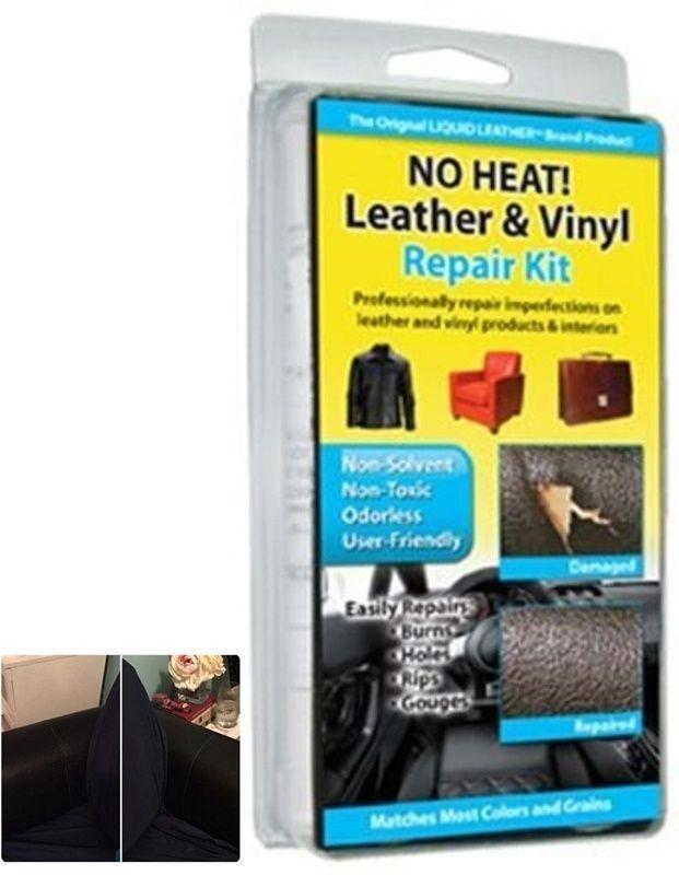 Liquid leather repair kit vinyl sofa furniture car seat - Auto interior restoration products ...