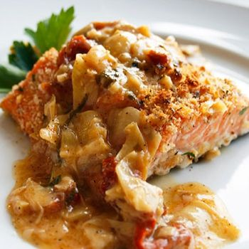 Salmon with Lemon Butter Basil Sauce | Your Salmon Recipes! (Shared B ...