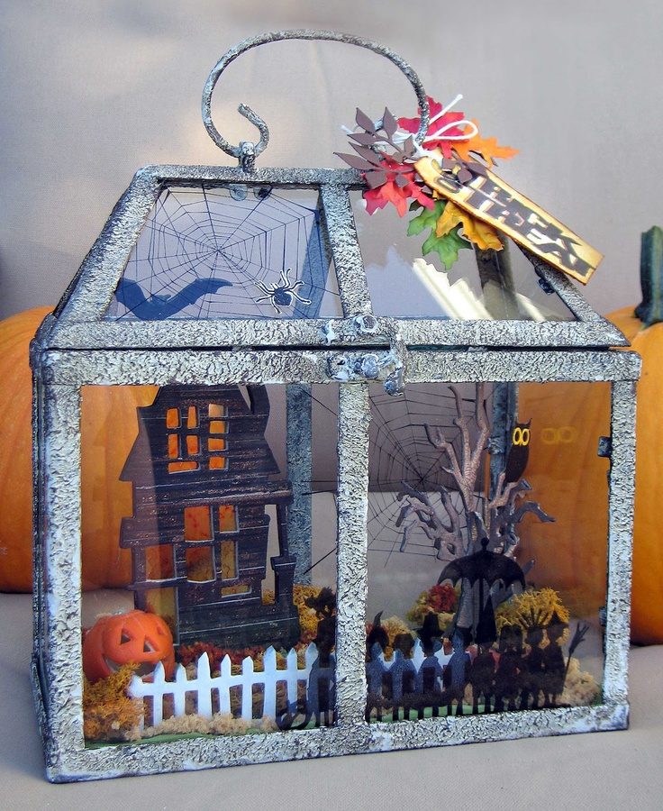 project ideas for sizzix tim holtz alterations collection bigz die rickety house - Halloween Diorama Ideas