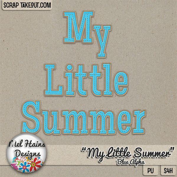 My Little Summer Blue Add on Alpha/Monogram