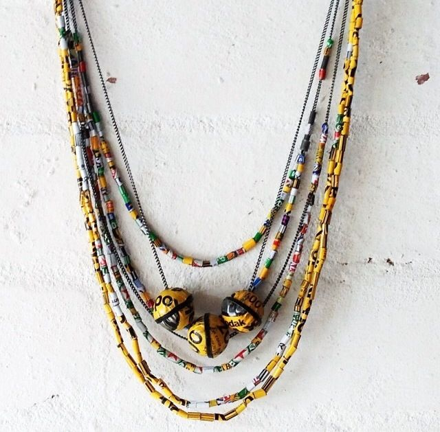 Film Canister neckpieces by Romy Mittelman  (Oxidised sterling silver, film canisters, enamel paint)