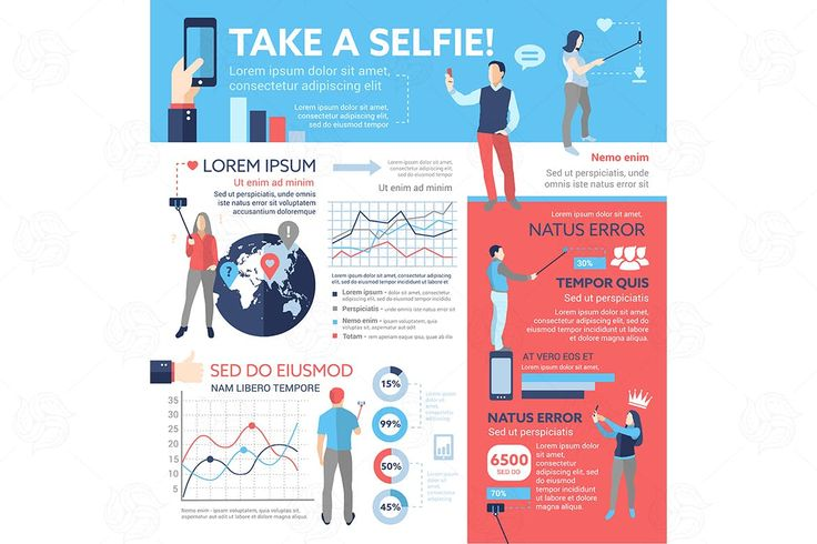 Take a Selfie Infographic Elements EPS