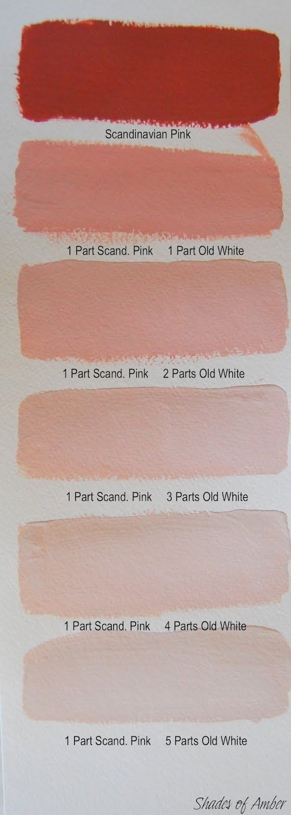 Shades of Amber:Chalk Paint® decorative paint by Annie Sloan  Color Theory - Scandinavian Pink