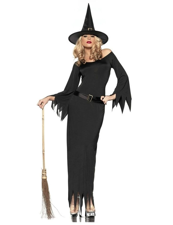 MOONIGHT Sexy Adult Witch Costume Halloween Witch Dress Sexy Costumes For Women Halloween Christmas Costume Black Long Dress #Affiliate