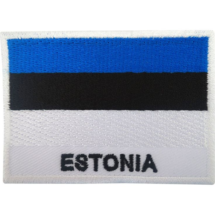 Estonia Flag Patch Iron On / Sew On Badge Embroidered Estonian Embroidery Motif