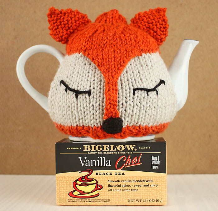 Fox Tea Cosy Free Knitting Pattern and Tea Proudly with Bigelow Tea! #TeaProudly #Ad #CollectiveBias