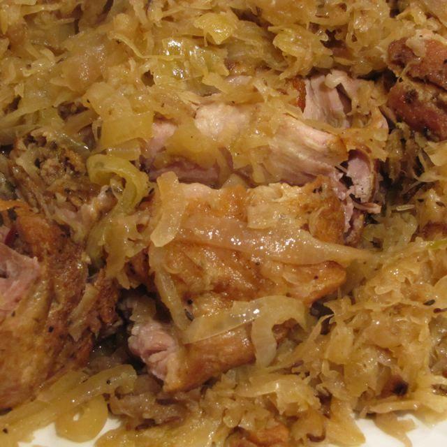 Savory Pork Roast and Sauerkraut