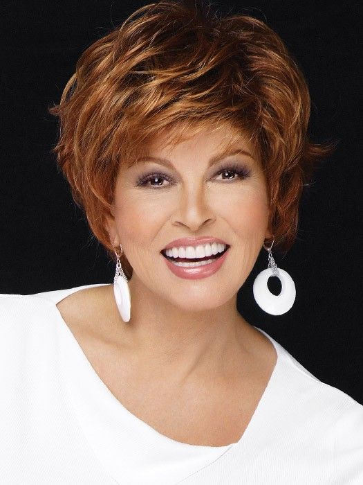 Free Spirit by Raquel Welch: Color SS28 Glazed Fire (Fiery Red with Bright Red highlights on top, Dark Brown roots)