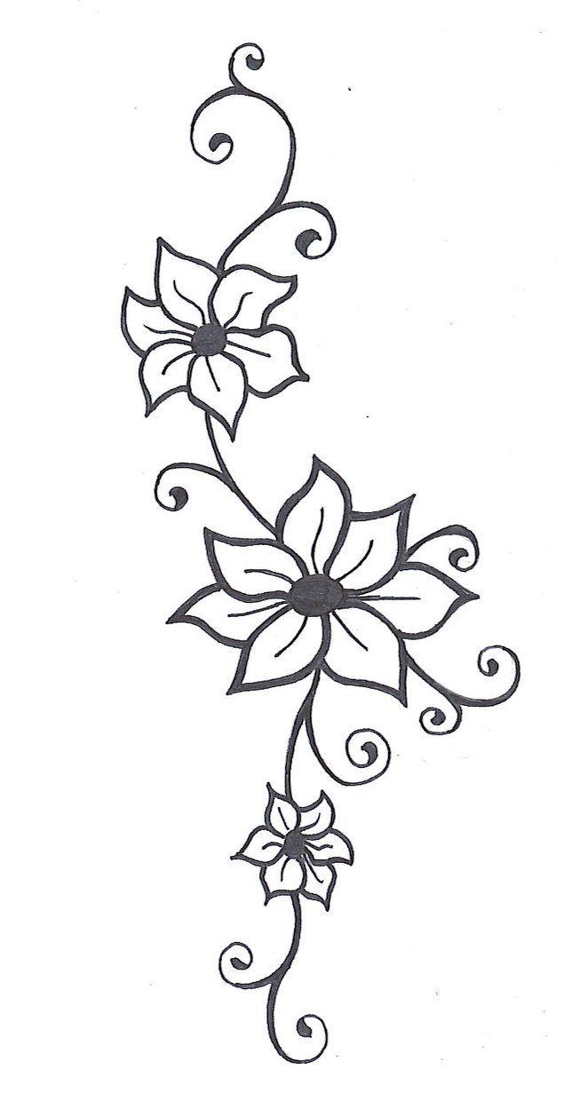 Flower Vine Tattoos  Flower Vine2 By ~mybeautifulsickness On Deviantart