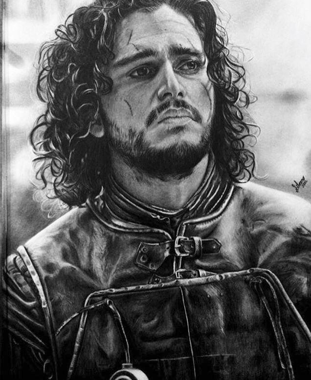 Desenho Realista Jon Snow Desenho Realista Desenhos Realistas
