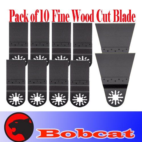 Pack of 10 Combo Standard/ Wide Fine Cut Oscillating Multi Tool Saw Blade for Fein Multimaster Bosch Multi-x Craftsman Nextec Dremel Multi-max Ridgid Dremel Chicago Proformax Blades