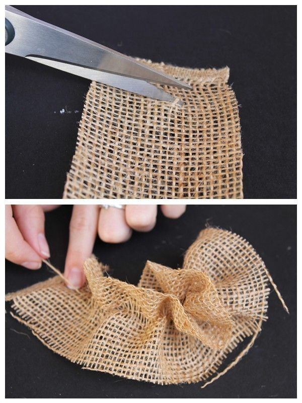 online men accessories DIY Burlap Flowers