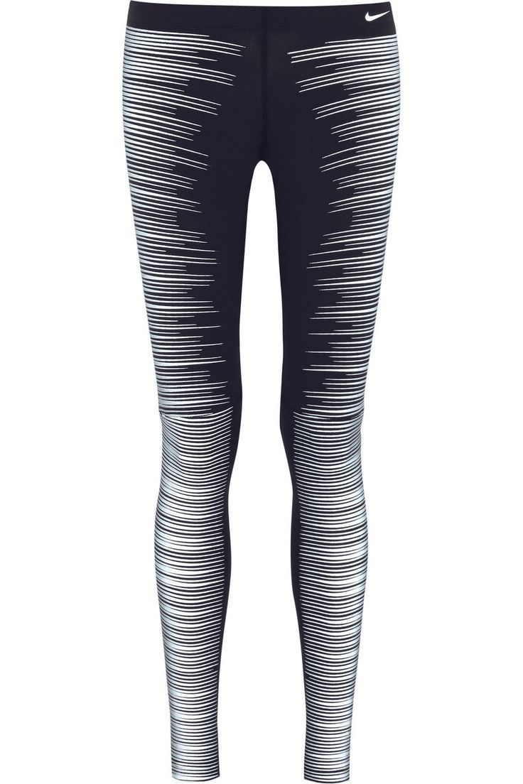 Nike|Printed Reflective stretch-jersey leggings|NET-A-PORTER.COM