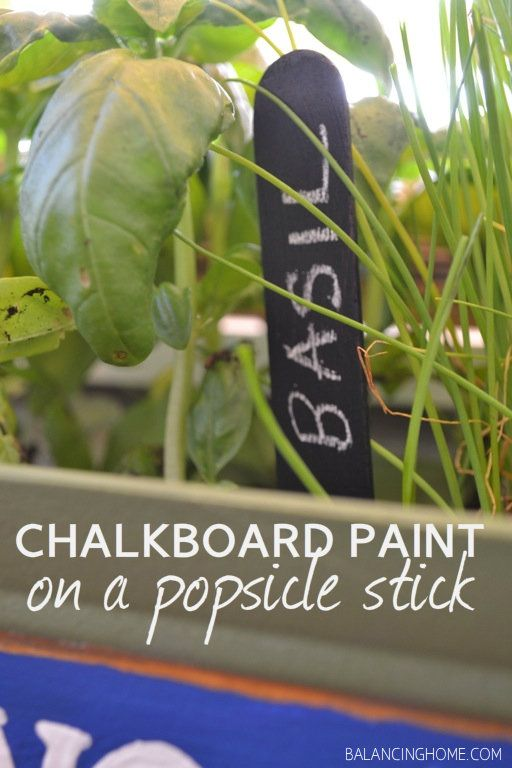 Chalkboard paint on popsicle sticks make great garden markers