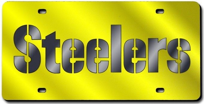 Pittsburgh Steelers Laser Cut Yellow License Plate Z157-9474627400