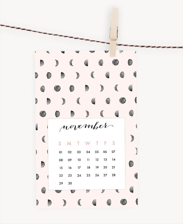 Oh the lovely things: Free Printable 2015 Calendar