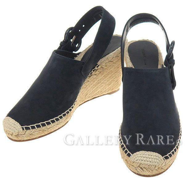 セリーヌ サンダル サボサンダル エスパドリーユ スエード ウェッジソール レディースサイズ36 CELINE 靴 ジュート巻