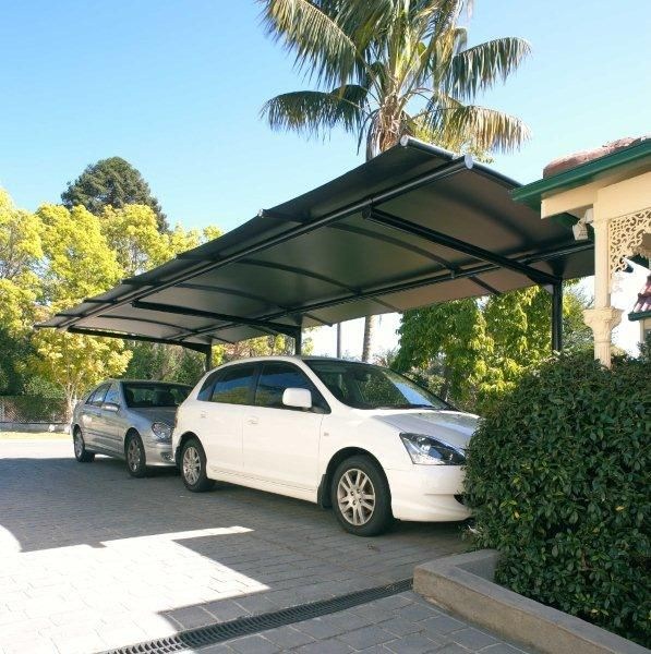 Cantilevered Batten Carport Awning, Poles Only On One Side Are A Practical  And Stylish Option
