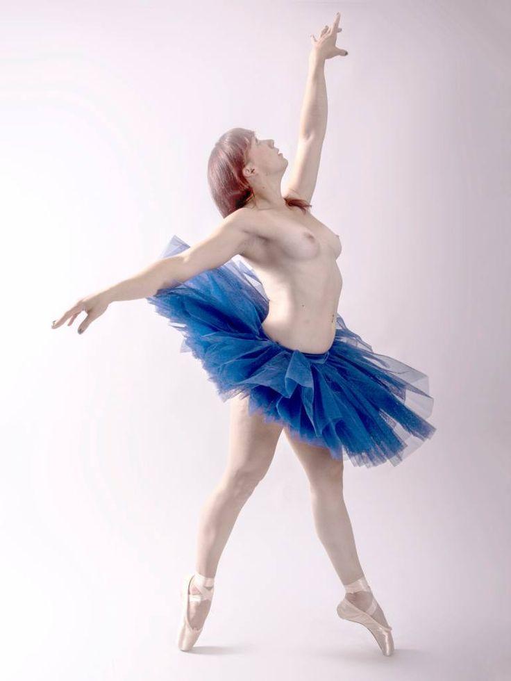 woman in a blue tutu