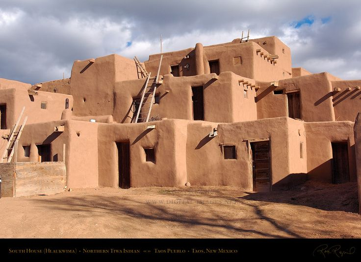 Taos pueblo is a famous land mark new mexico it was for Modern adobe homes