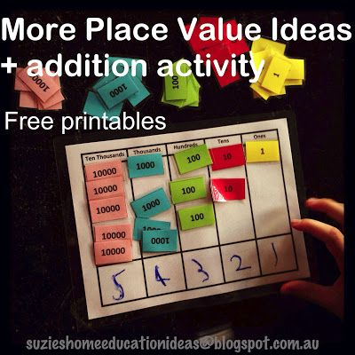 More Place Value Activity Ideas, FREE PRINTABLE resource for learning about place value