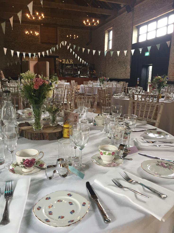 Afternoon Tea Wedding Breakfast #thegranaryestates #thegranarybarns #barnwedding #bunting #countywedding