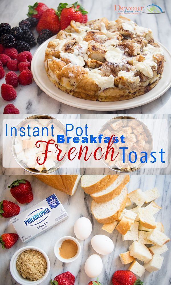 Family Favorite.  This recipe is so easy!  We love that we can stuff this french toast with whatever we love best.  Instant Pot Breakfast are perfect ...