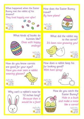 Easter jokes for kids - lots of pretty bookmarks, lunch box notes and other free printables