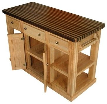 Cossatot Kitchen Island With Butch Block Top Modern Kitchen Islands And Kitchen Carts